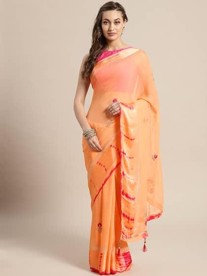 96b08b910a9 Peach Saree - Buy Peach Color Sarees online