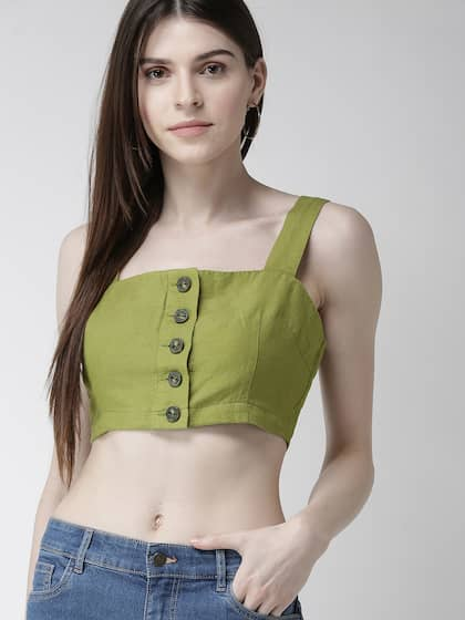 442da2fe5370de Crop Tops - Buy Midriff Crop Tops Online for Women in India
