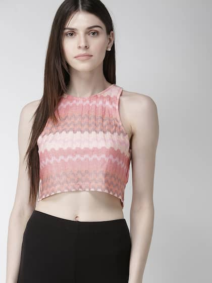 7d1431b1e0 Crop Tops - Buy Midriff Crop Tops Online for Women in India