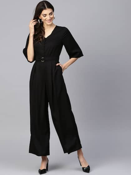 4b1283f8f7e Black Jumpsuit - Buy Black Jumpsuit Online in India