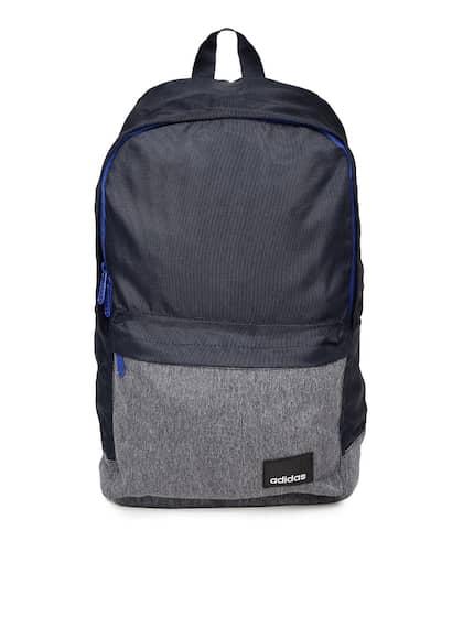 d0dba638618 ADIDAS Unisex Navy Blue & Grey Lin Clas BP Colourblocked Backpack