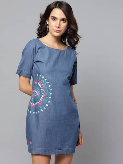 5741913b2 Denim Dresses - Buy Denim Dresses Online in India | Myntra