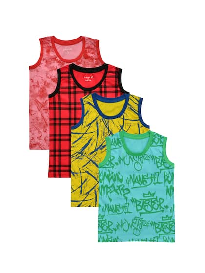 fa250c2fba3306 Luke & Lilly Boys Pack Of 4 Multicoloured Printed Round Neck T-shirt