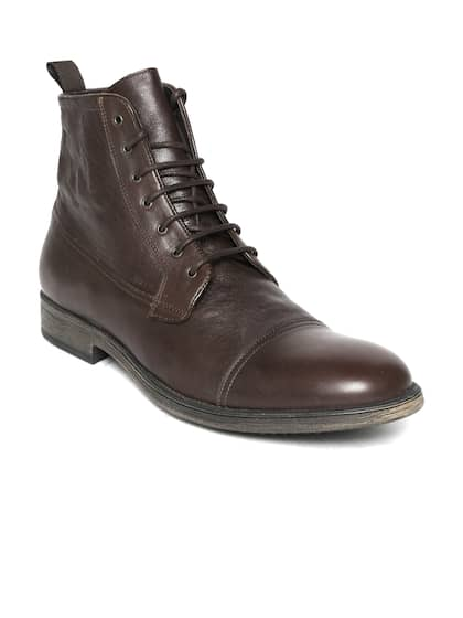 59ca92b21 Geox. Men Leather Mid-Top Flat Boots