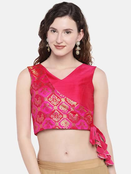 5a60a19dfafe4f Blouses - Shop for Designer Blouse Online in India | Myntra
