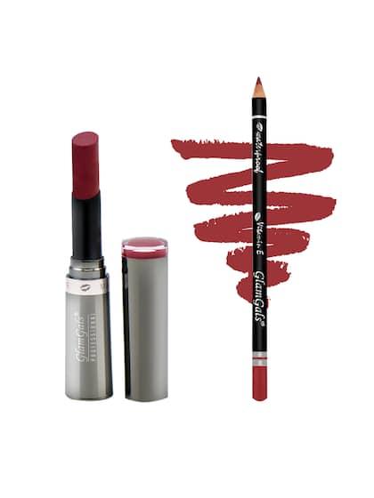 Glamgals Women Combo of Creme Matte Lipstick & Lip Liner Pencil