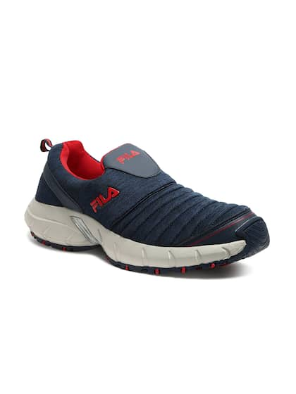 9561bfe01805 FILA Men Navy Blue SMASH VIII Textured Slip-On Sneakers