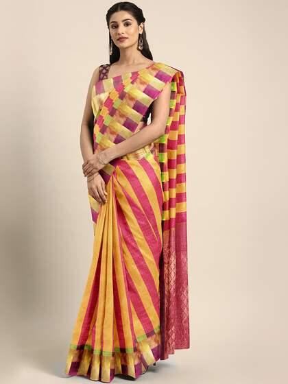 0810f9715d Yellow Saree - Buy Yellow Colour Saree Online | Myntra