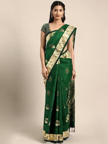 be44372fa9d Green Saree - Buy Green Color Sarees Online