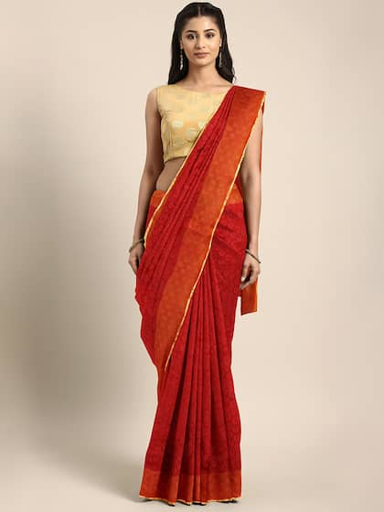 59a598a73fb Red Saree - Buy Red Color Fashion Sarees Online