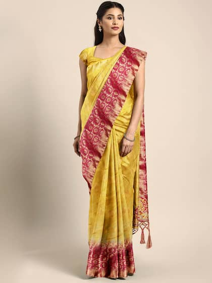 184ada3117aa23 Stitched Saree - Buy Pre-Stitched Sarees Online in India   Myntra