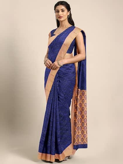6a19651bdc Blue Saree - Buy Blue Color Women Sarees Online | Myntra