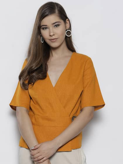 6e15ea497b6b5a Wrap Tops - Buy Wrap Tops online in India