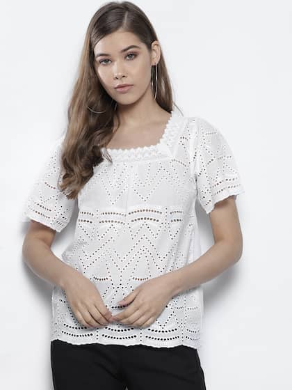 e40ce5da3dd Lace Tops - Buy Lace Tops for Women   Girls Online in India