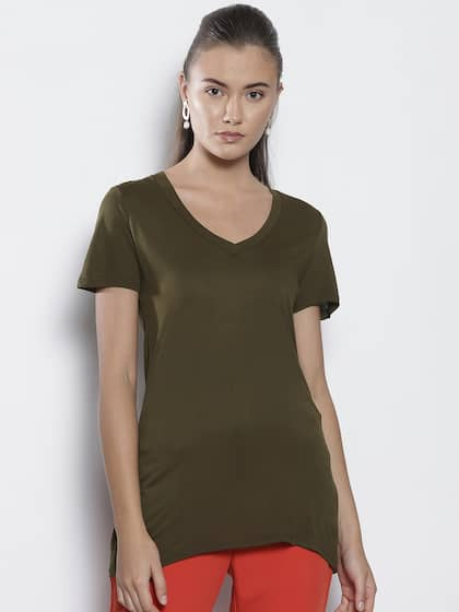 d946fcac6 V Neck T-shirt - Buy V Neck T-shirts Online in India | Myntra
