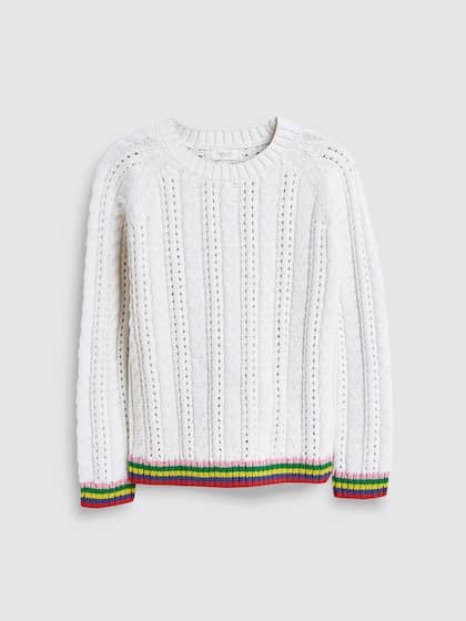 8683220ec93f Girl's Sweaters - Buy Sweaters for Girls Online in India   Myntra