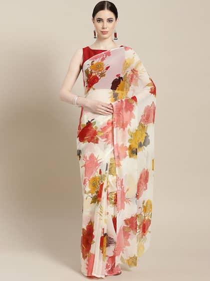 ef897fc3ad White Saree - Buy Designer White Sarees Online | Myntra