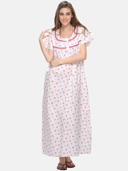 05ddff0bc88c Cotton Nightdresses - Buy Cotton Nightdresses Online in India | Myntra