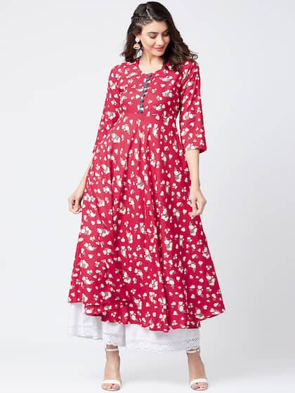 3e6b29a16800 A Line Kurtas - Buy A Line Kurtas online in India