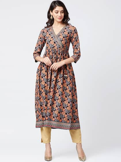 29258ec6ba5 Angrakha Kurtas - Buy Angrakha Kurtas online in India