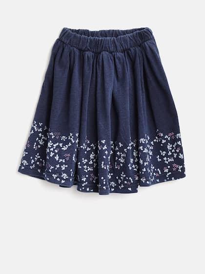 58ea4a7e0e Gini and Jony Girls Navy Floral Print Flared Skirt