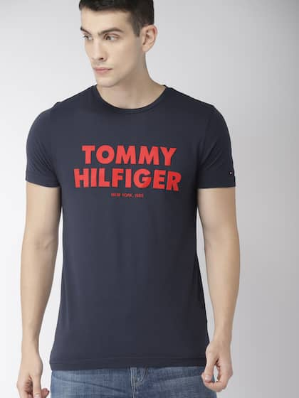 64119cbc82d Tommy Hilfiger Men Navy Blue Printed T-shirt