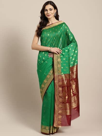 f05d9c5bd7 Traditional Silk Sarees - Buy traditional silk sarees online - Myntra