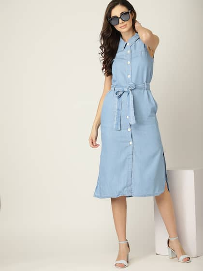 dbc9f11978 Denim Dresses - Buy Denim Dresses Online in India