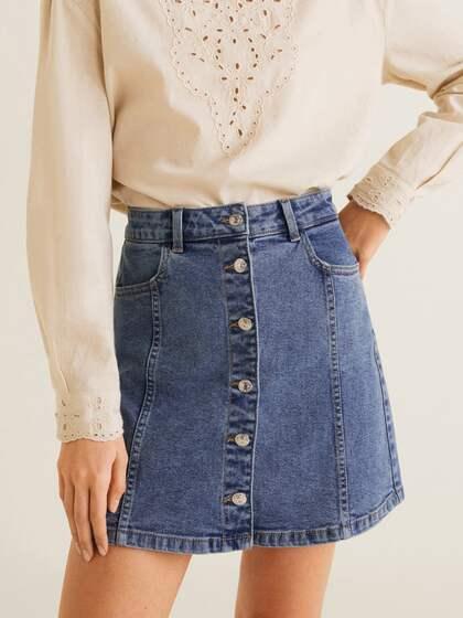 65ef2b5bee Denim Skirts - Buy Denim Skirts for Women Online   Myntra