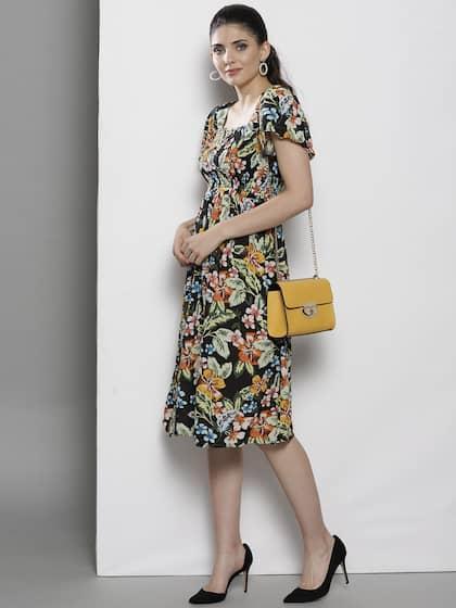 4f61631caa3c Midi Dresses - Buy Midi Dress for Women & Girl Online | Myntra