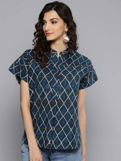 0f03e20b Teal Tops - Buy Teal Tops online in India