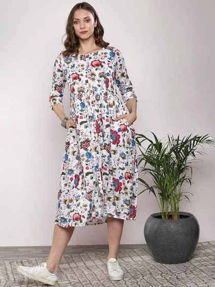 7d13a40cc7a36 Midi Dresses - Buy Midi Dress for Women & Girl Online   Myntra