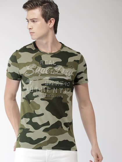 b69b24f9 Military Tshirts - Buy Military Tshirt Online in India | Myntra