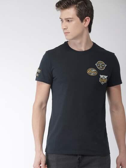 e3ea2d0e5c7 Bundles. Superdry Men Navy Blue Solid Round Neck T-shirt