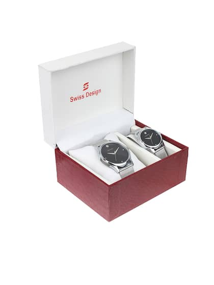 9981f96a1 Swiss Design Unisex Set Of 2 Analogue Couple Watches SD-701PR