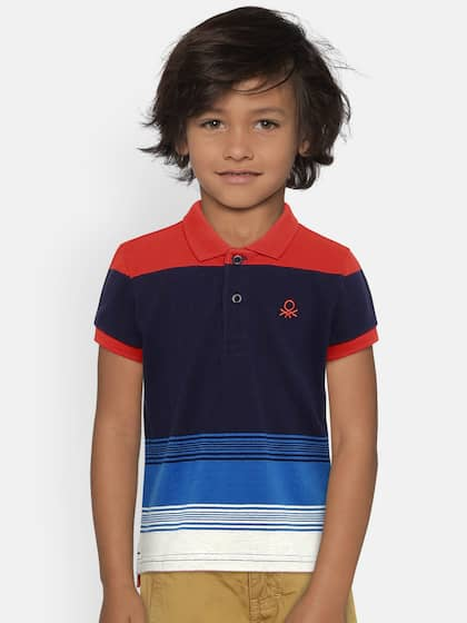 bba887177 United Colors of Benetton. Colourblocked Polo Collar T-shirt