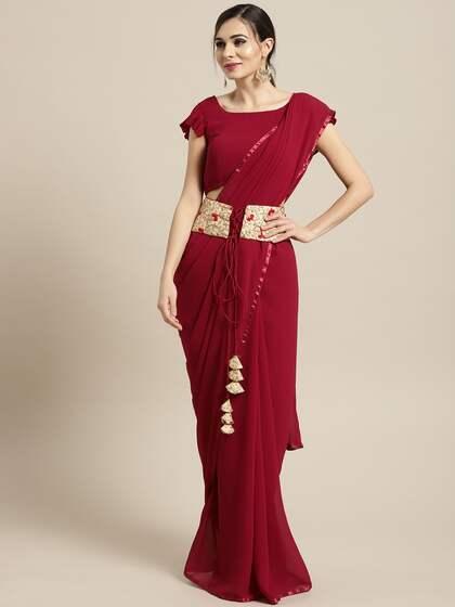 608fefc154 Maroon Saree - Buy Maroon Sarees Online in India