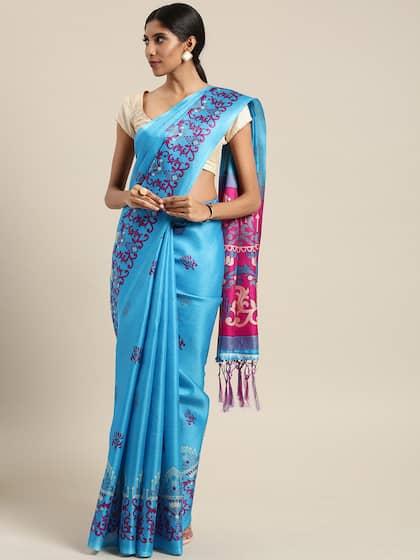 750956fa15a Blue Saree - Buy Blue Color Women Sarees Online
