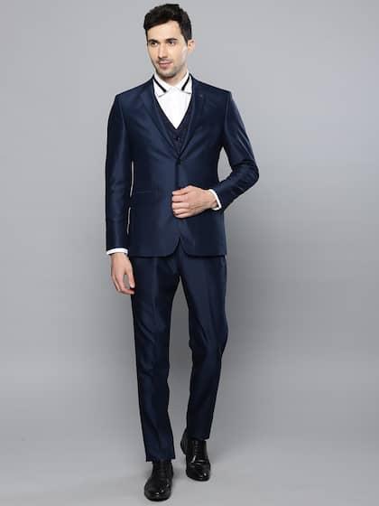 Louis Philippe. Men Navy Blue Formal Suit