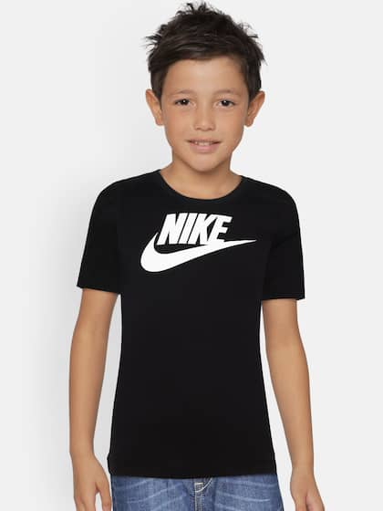 a9eb86e6db28 Nike Boys Black Printed Round Neck NSW TEE FUTURA ICON T-shirt