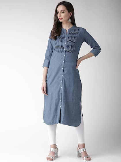 f0fb90a152d Denim Kurtas - Buy Denim Kurtas online in India