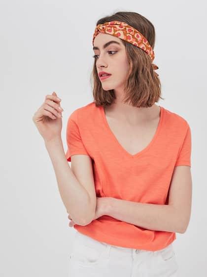 2807c437 T-Shirts for Women - Buy Stylish Women's T-Shirts Online | Myntra