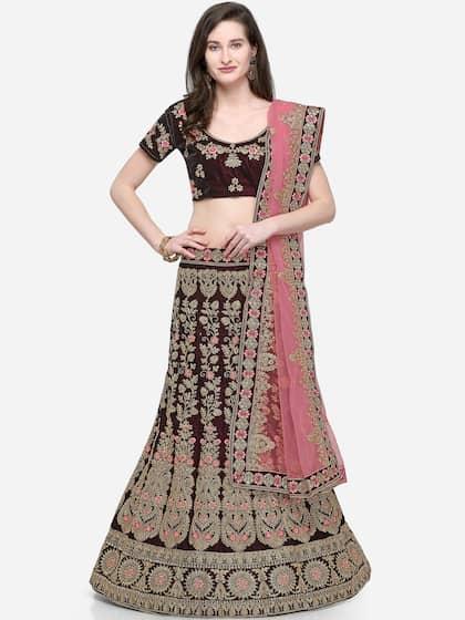 887c56cc94b32 Bridal Lehenga - Shop Online for wedding Lehengas at Best Price   Myntra