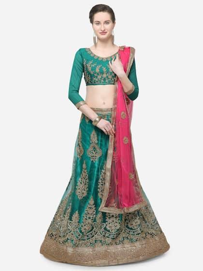 ab3586e2a Silk Lehenga - Shop for Silk Lehenga Choli Online | Myntra