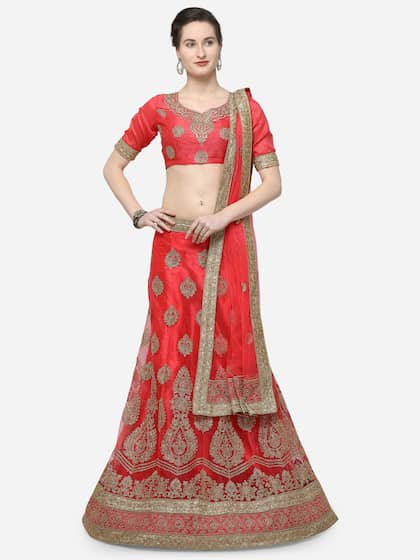 942374a337a V SALES. Semi-Stitched Lehenga   Blouse with Dupatta