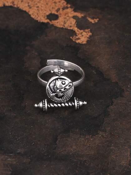 Studio Voylla. Oxidised Adjustable Finger Ring
