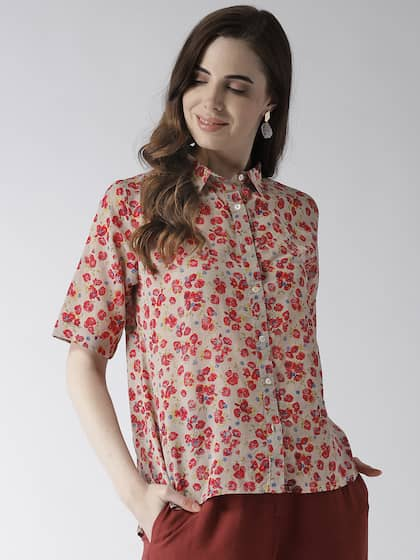 4d2105c2ce2488 Women Shirts - Buy Shirts for Women Online in India | Myntra