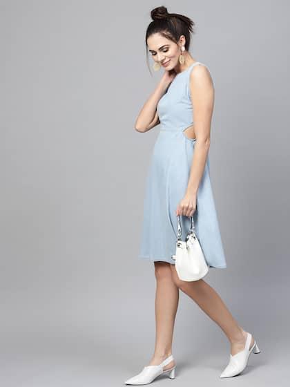 1d33fc2d Denim Dresses - Buy Denim Dresses Online in India   Myntra