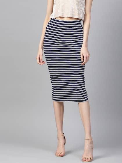 0f989a35d1 Navy Blue Blue Striped Skirts - Buy Navy Blue Blue Striped Skirts ...
