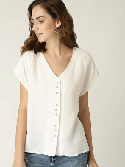 bfb4a019217f Women White Top - Buy Women White Top online in India